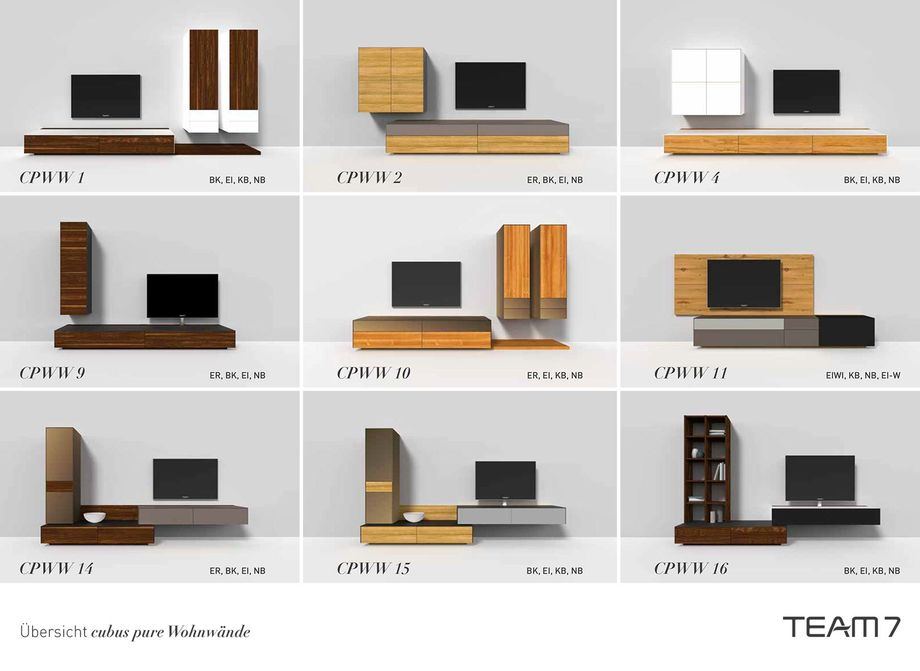 team 7 cubus pure wohnwand bodesign m bel qualit t aus. Black Bedroom Furniture Sets. Home Design Ideas