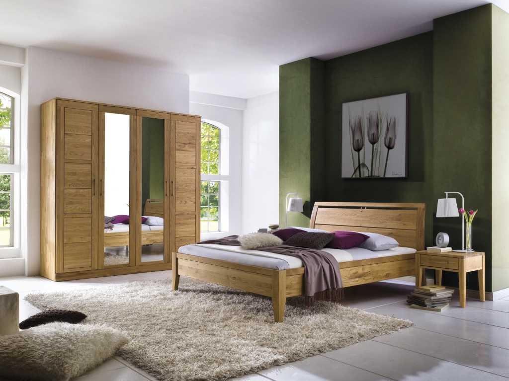 Bett - Massivholz Bett