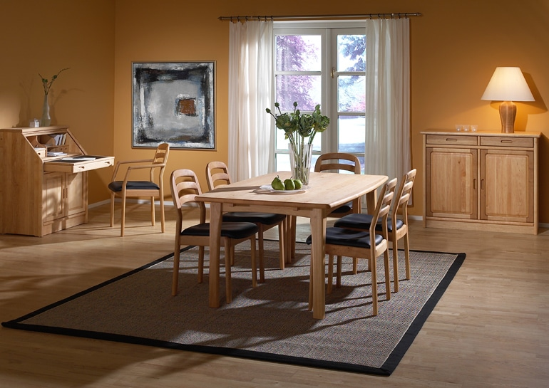9248 Esstisch mit 1591 Stühle in Erle