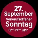 Verkaufsoffener Sonntag 27 September